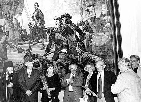 1996 г. Открытие персональной выставки в Российской Академии художеств